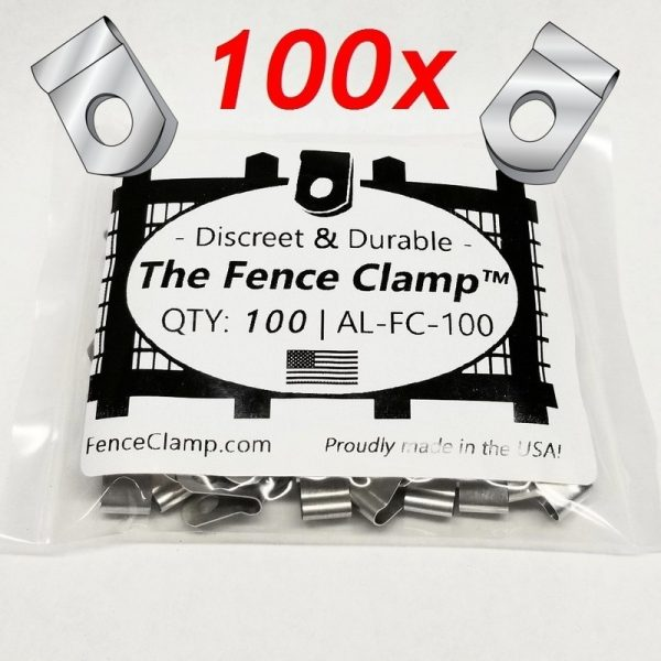 100 pack - Buy The Fence Clamps - tight fitting wire fence clips