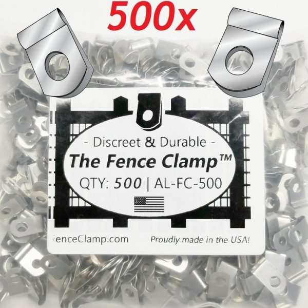 500 pack - Buy The Fence Clamps - tight fitting wire fence clips
