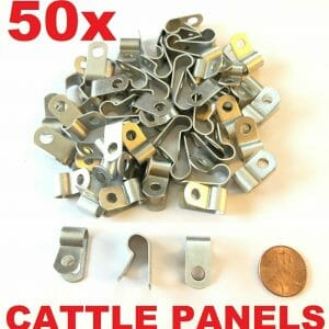 100% US Made Aluminum Fence Clamp Clips for Cattle Panel Fencing